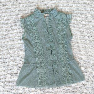 Free People Victorian Lace Sleeveless Top